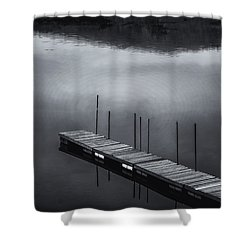Shower Curtain featuring the photograph Marina Dock by Tom Singleton