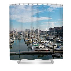 Marina In The Netherlands Shower Curtain