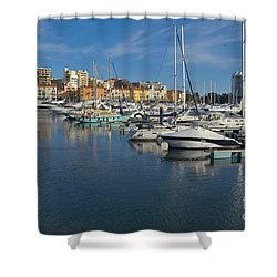 Marina Of Vilamoura At Afternoon Shower Curtain
