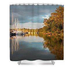 Marina Sunset 10 Shower Curtain