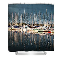 Marina Sunset 4 Shower Curtain