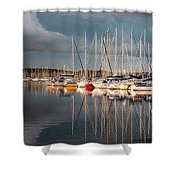 Marina Sunset 9 Shower Curtain