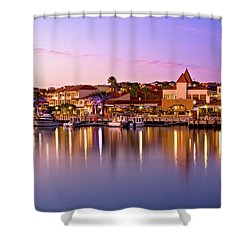 Marina Sunset, Mindarie Shower Curtain by Dave Catley