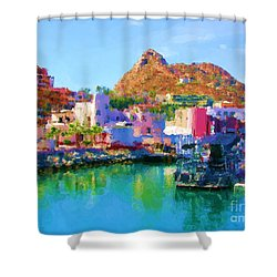 Marina Towards Pedregal II Shower Curtain by Gerhardt Isringhaus