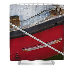 Shower Curtain featuring the photograph Marine Abstract by Charles Harden