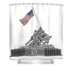 Marine Corps War Memorial - Iwo Jima Shower Curtain
