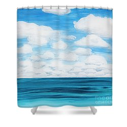 Marine Layer Breaking Up Shower Curtain