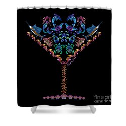 Marine Martini Shower Curtain