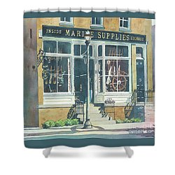 Marine Supply Store Shower Curtain by LeAnne Sowa
