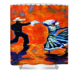 Marinera Nortenia Red, Peru Impression Shower Curtain