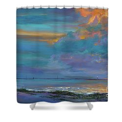 Mariners Beacon Shower Curtain by AnnaJo Vahle