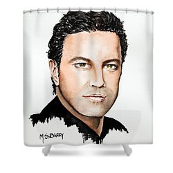 Mario Frangoulis Shower Curtain by Maria Barry