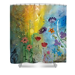 Mariposa Shower Curtain by Robin Maria Pedrero