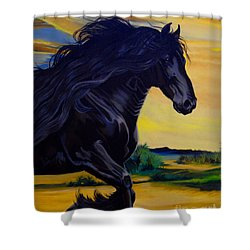 Friesian Paradise Shower Curtain