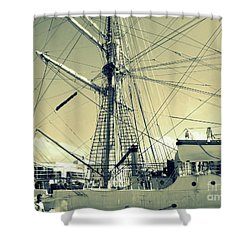 Maritime Spiderweb Shower Curtain