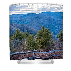 Mark Hannah Overlook Cataloochee Shower Curtain