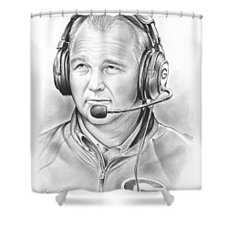 Mark Richt  Shower Curtain by Greg Joens