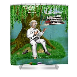 Mark Twain On The Mississippi Shower Curtain