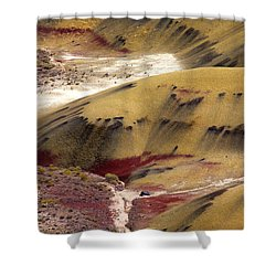 Marked Hills Shower Curtain by Mike  Dawson