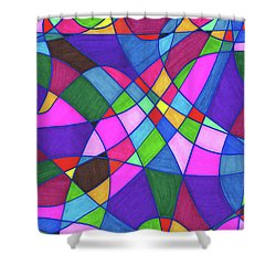 Marker Mosaic Shower Curtain