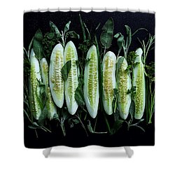 Market Cucumbers Shower Curtain