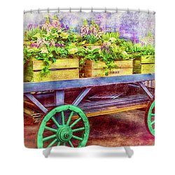 Shower Curtain featuring the photograph Market Flowers by Wallaroo Images