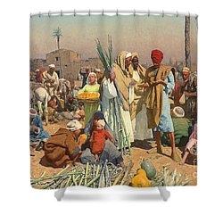 Market In Lower Egypt  Shower Curtain by Leopold Karl Muller