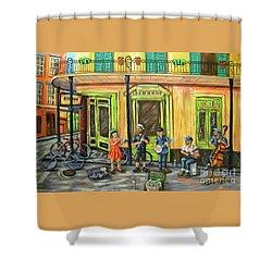 Market Musicians Shower Curtain