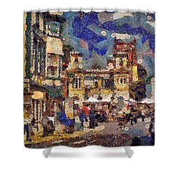 Market Square Monday Shower Curtain