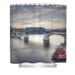 Market Street Bridge Shower Curtain by David Troxel