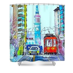 Market Street Shower Curtain