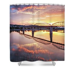 Market Street Jog At Sunrise Shower Curtain