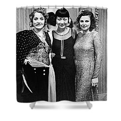 Marlene Dietrich Anna May Wong Leni Riefenstahl Berlin 1930 Shower Curtain