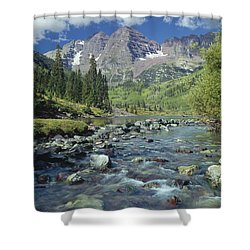 210404-maroon Bells And Creek  Shower Curtain