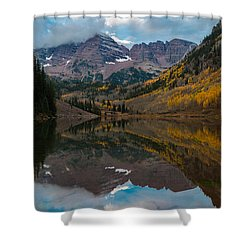 Shower Curtain featuring the photograph Maroon Bells by Gary Lengyel