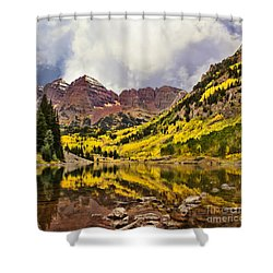 Maroon Bells Lake Shower Curtain