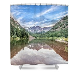 Maroon Bells Near Aspen, Colorado Shower Curtain by Peter Ciro
