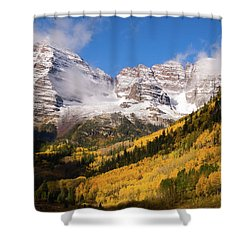 Shower Curtain featuring the photograph Maroon Bells by Steve Stuller