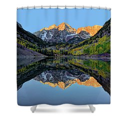 Maroon Bells Sunrise Shower Curtain