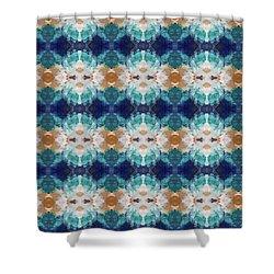 Marrakesh Blues- Art By Linda Woods Shower Curtain