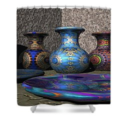 Marrakesh Open Air Market Shower Curtain by Lyle Hatch