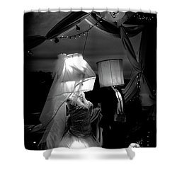 Shower Curtain featuring the photograph Marriage Of Darkness And Light by Alan Raasch