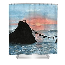 Married Couple Rocks At Sunrise Shower Curtain