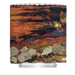 Mars Butterfly Effect Shower Curtain