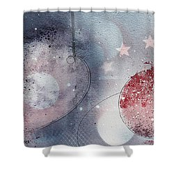 Mars Shower Curtain by Monte Toon