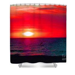 Mars Sunset Shower Curtain
