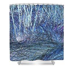 Marsh Grass Abstract 2 Shower Curtain