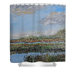 Marsh View Shower Curtain