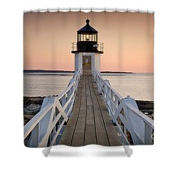 Marshal Point Glow Shower Curtain by Susan Cole Kelly