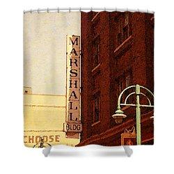 Marshall Bldg Shower Curtain by David Blank